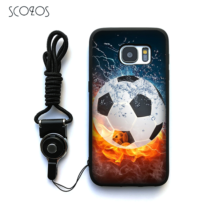 Phone Bags & Cases Fitted Cases Analytical Scozos Soccer Ball Game Time Case Cover For Samsung Galaxy S6 S7 S7 Edge S8 S8 Plus J3 J5 J7 A3 A5 A7 2016 Note 8 &ww296 Convenience Goods
