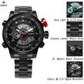 2017 Luxo completa de aço inoxidável Assista Homens de Negócios Casual Relógios de quartzo relógio de Pulso Militar sport watch Relogio à prova d' água