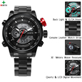 2017 de Lujo completa de acero inoxidable Reloj de Los Hombres de Negocios Casual Relojes de cuarzo Militar Reloj impermeable Relogio del reloj del deporte