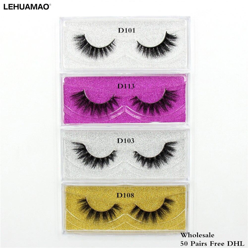 LEHUAMAO 50 paires Vison Cils 3D maquillage faux Cils Main De Luxe Dramatique Vison Cils sans cruauté Cils Livraison DHL