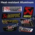 2017 Aluminum 3D Heat-resistant Motorcycle Exhaust Pipes Sticker Cool Personality Scorpio Yoshimura Emblem Akrapovic Car Decal