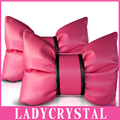 Ladycrystal 1pcs Cute Pink Car Headrest Pillows Neck Pillows High Quality PU Leather Car Neck Headrest Pillow