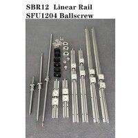 6 set SBR12 200/350/450mm Linearführungsschiene + 3 set SFU1204 250/ 350/450mm Kugelumlaufspindel set + 3 set BK/BF10 CNC Teile-in Linearführungen aus Heimwerkerbedarf bei