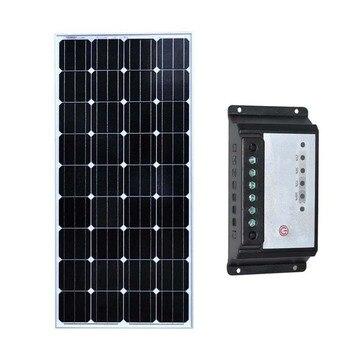 Solar Panel Charger 12v 150w Solar Charge Controller 12v/24v 10A Caravan Car Camp Motorhome Rv Marine Yacht Boat LED Phone