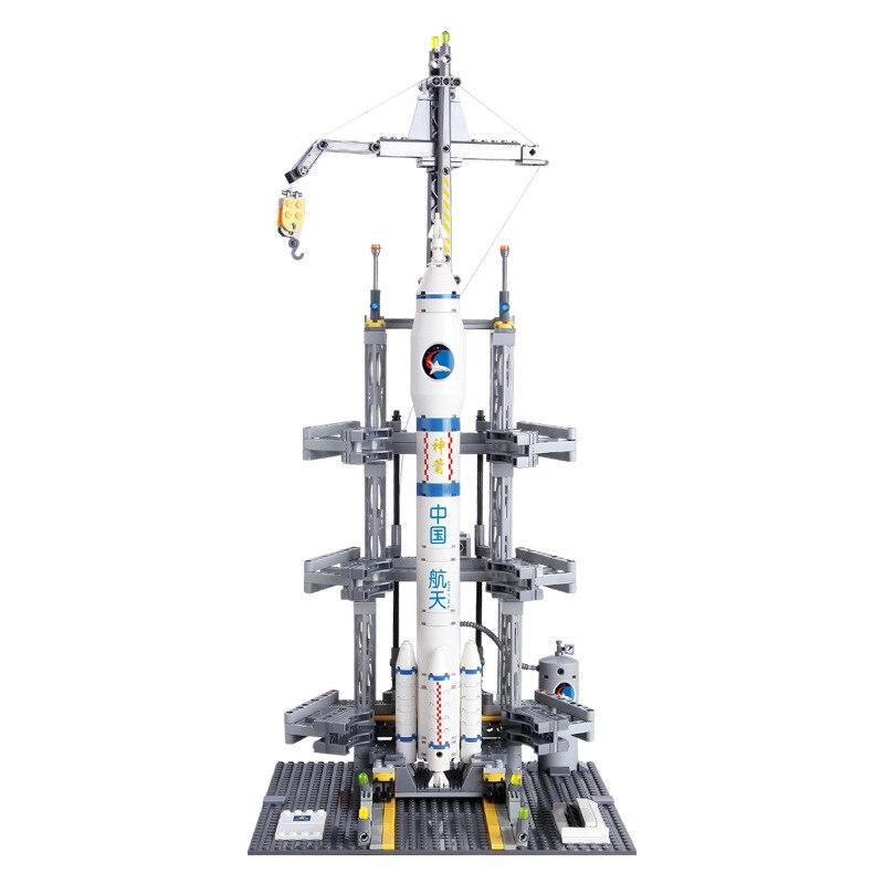 Kazi Aerospace Building Blocks Kid Enlighten Block Space Rocket Launch Center Building Blocks Compatible Legoe Toys For Children-in Model Building Kits from Toys & Hobbies    2