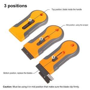 Image 3 - EHDIS – grattoir de rasoir avec lames en acier, outils de teinture, couteau, raclette de fenêtre, autocollant de voiture, Film vinyle, dissolvant de colle, 10 pièces
