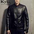 New 2016PU Leather Jacket Men Black Red Brown Solid Mens Faux Fur Coats Trend Slim Fit Youth Motorcycle Suede Jacket MaleBSGD983