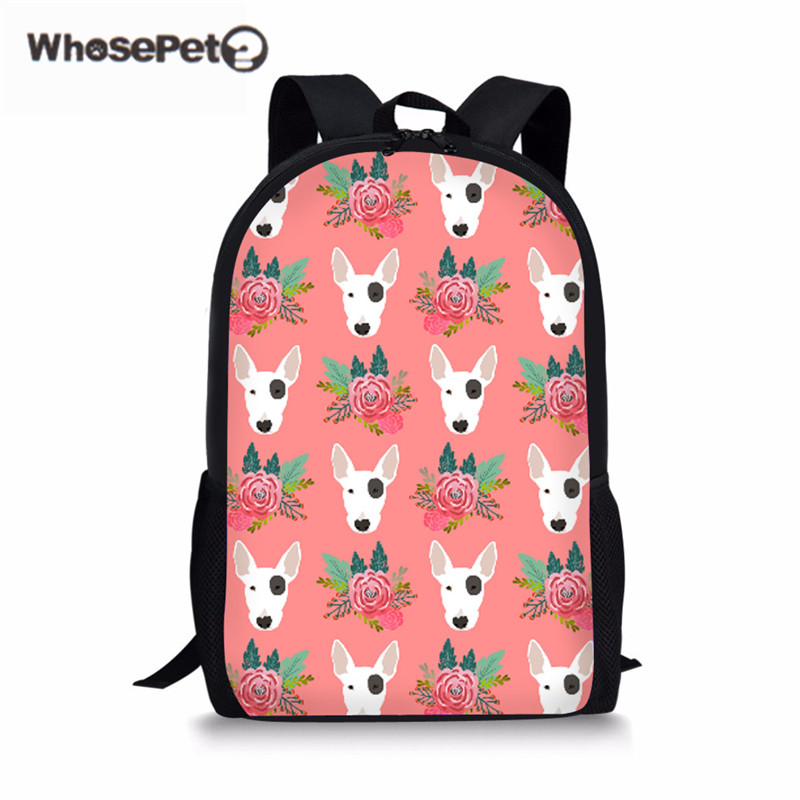 WHOSEPET Cute Schoolbag For Girls Pit Bulldog Women Fashion Backpack School Rugzak Kids Book Satchel High Quality Schoolbags New