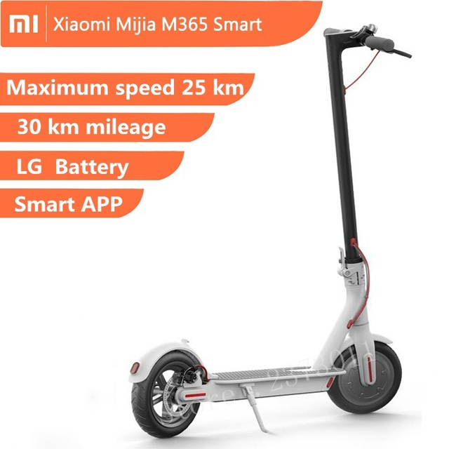 US $558 0 |xiaomi mijia M365 electric scooter hoverboard electric skate LG  Battery Maximum mileage 30km Two wheel Adult foldable 12 5kg-in Electric