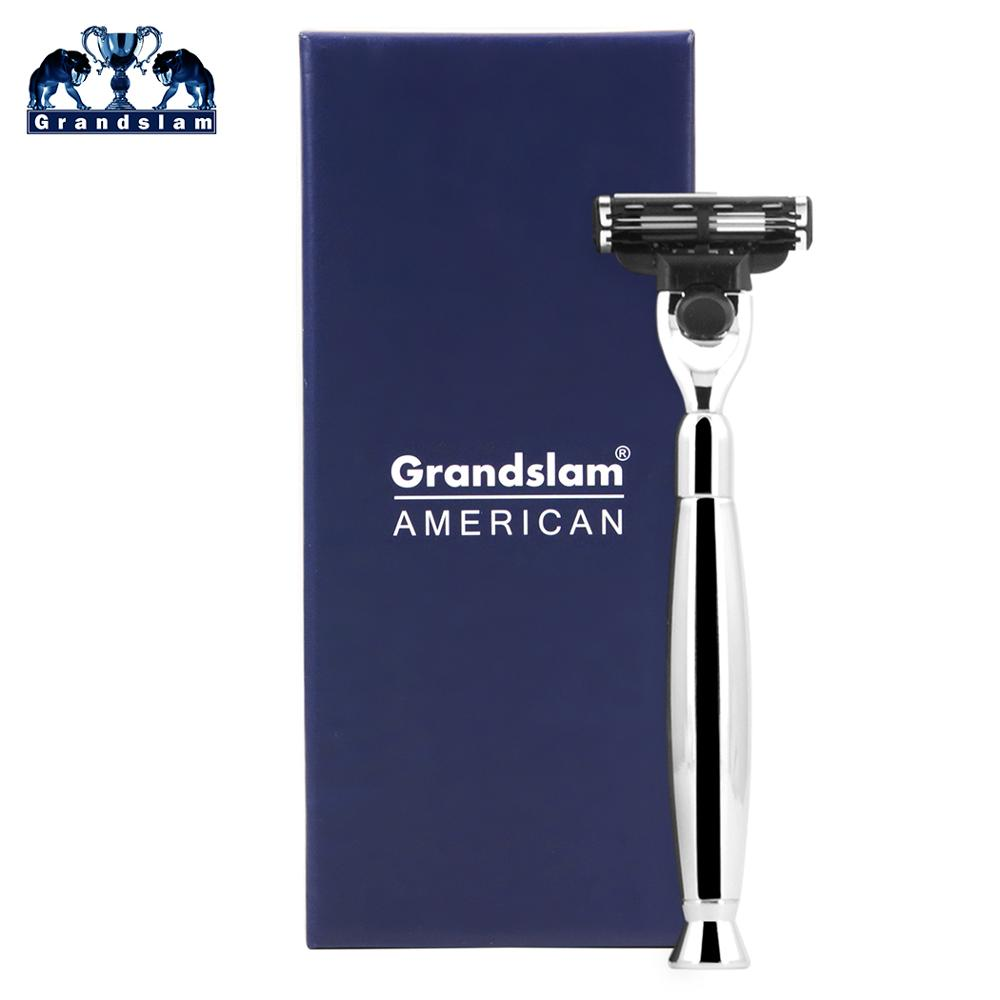Grandslam Men's Manual Shaving Safety Razors 3 Layers Cartridge Shaver Refills Replacement Shaving Cassettes Best Shaver For Men