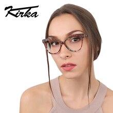 Kirka New Brand Women Optical Glasses Spectacle Frame Cat Eye Glamorous Eyeglasses Computer Reading Eyewear