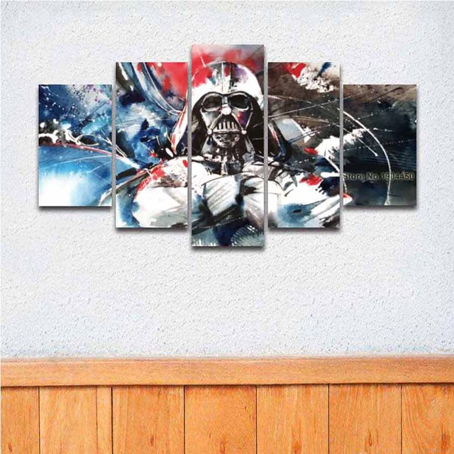 Artistic Canvas Wall Art Picture Star War Darth Vader Painting Large ...