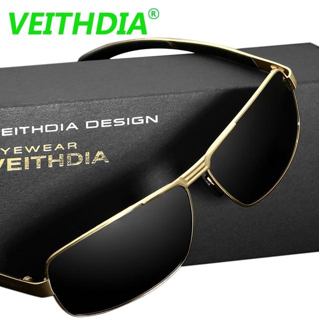 VEITHDIA UV400 Acessórios de óculos de Sol Dos Homens Polarizados Condução  óculos de Sol Óculos de 3be49ded0c