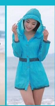 5 шт./лот женские ярких цветов одежда для защиты от солнца ультра-тонкий верхняя одежда ярких цветов повседневные пляжные толстовки - Цвет: blue