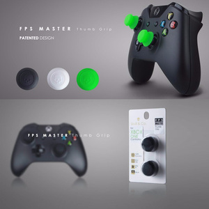 Image 1 - Silikonowe uchwyty analogowe Thumb Stick nakrętki na wentyle na kontroler do Xbox One Skull & Co. Osłona na palce FPS Master dla gamepada Xbox One