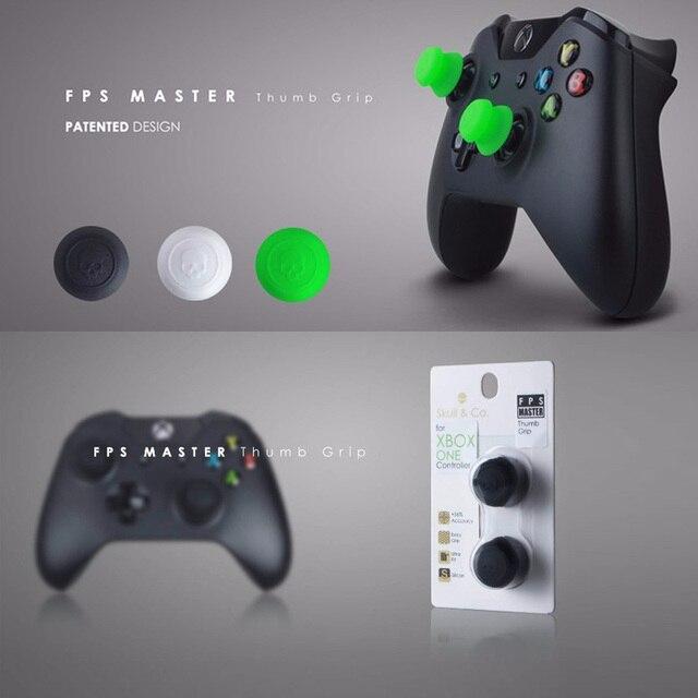 Silikonowe uchwyty analogowe Thumb Stick nakrętki na wentyle na kontroler do Xbox One Skull & Co. Osłona na palce FPS Master dla gamepada Xbox One