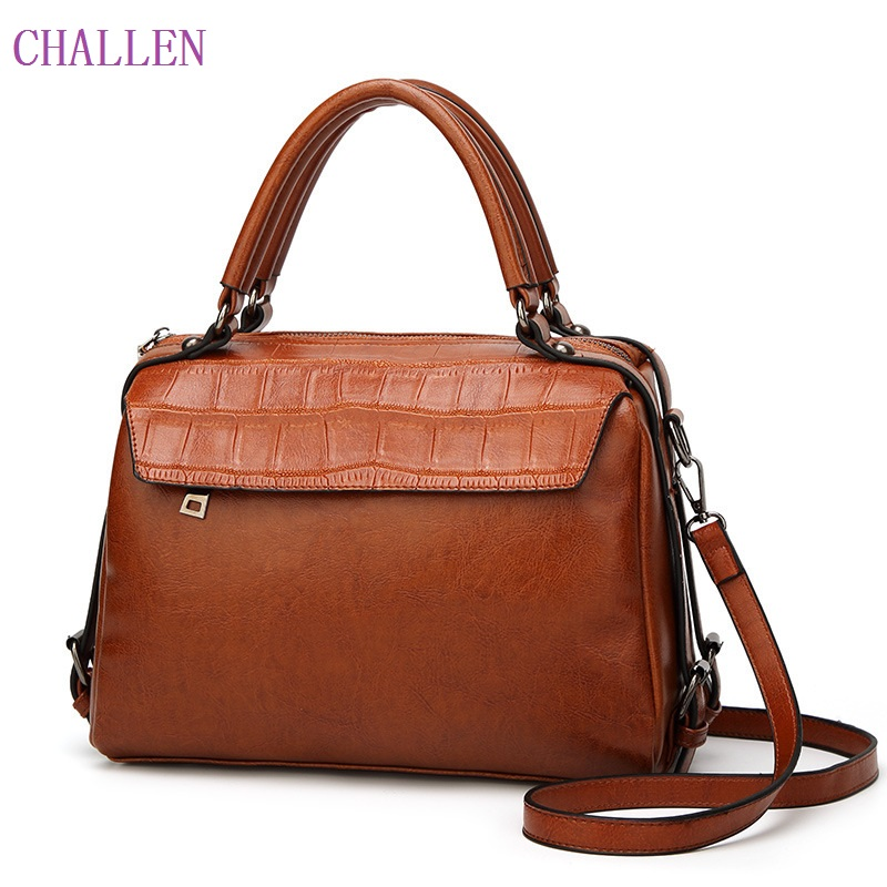 New Genuine Leather Bag Large Women Alligator Leather Handbags Famous Brand Women Tote Bags Ladies Shoulder Bag Bolsos Mujer 2015 hot sell famous brand women bag foxer genuine leather fashion women handbags women alligator zipper shoulder bags