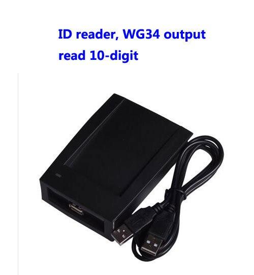RFID קורא, USB קורא, EM/מזהה כרטיס קורא, לקרוא 10 ספרות, WG34 פלט, usb להקצות מכשיר, sn: 09C EM 34, דקות: 20pcs