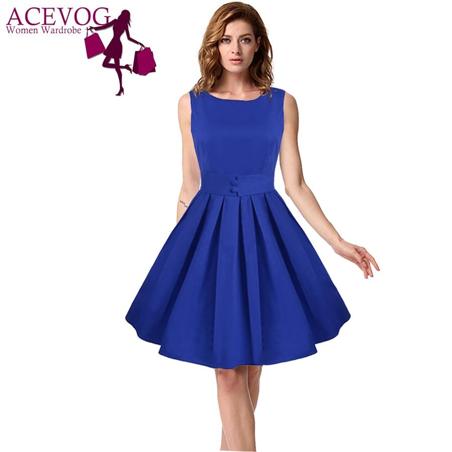 Blue dress casual 1950s