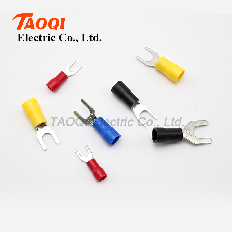 500pcs/pack SV3.5 6 Pre Insulated Fork Spade Wire Connector ...
