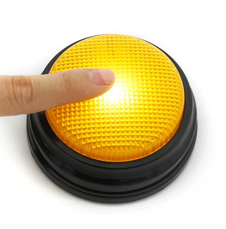 Iluminação Led botão de gravação de som, pressionar este botão é uma Explosão! iluminar o seu espaço na mesa!