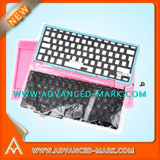 "Brand  New ! Replace For Apple Macbook Pro Unibody 17""  A1297 Laptop  Keyboard With Backlight,Layout Danish ,Black,Hot Selling~"