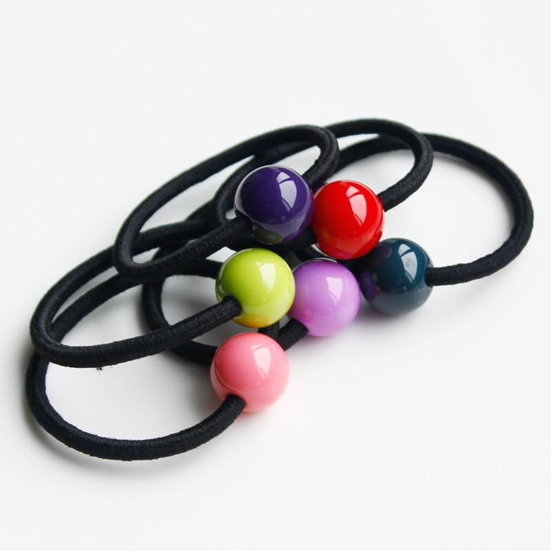 Han edition tire hair accessories wholesale South Korea acrylic ball hair ring hair rope danielle foster сумка на руку