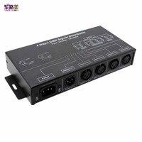 Free shipping DMX124 AC100V 240V input DMX512 amplifier Splitter DMX signal repeater 4CH 4 output ports DMX signal distributor