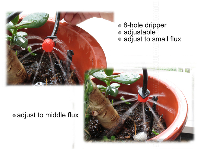 Garden Watering Kits With Adjustable Drippers