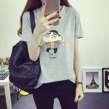 T shirt Women Funny Kawaii Tops 2016 Korean Wild T Shirt Women Summe Women Loose Tee Shirt Femme Tee T