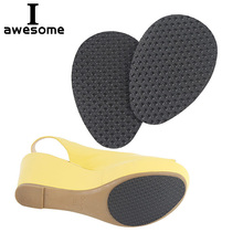 1 Pair High Heel Sandals Shoes Sole Anti-slip Frosted Self-Adhesive Protective Stickers Forefoot Protector Pads Cushion Insole free shipping 500pairs lot anti slip stick on shoe grip pads self adhesive non slip rubber sole protector