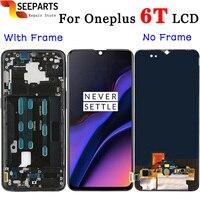 Oneplus 6 T ЖК дисплей + сенсорный экран панель дигитайзер сборка Замена ЖК экран для One plus 6 t Мобильный телефон 6,41 + Инструменты