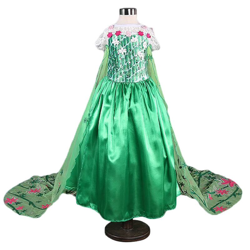 Flower Girl Princess Dress Childrens Fancy Halloween Costume For Kids Girls Dresses Floral Role Play Toddler Girl Party Clothes