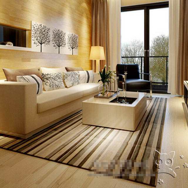 NEW Arrival Fashion Acrylic Modern / Korean / brown / stripe Carpet ...