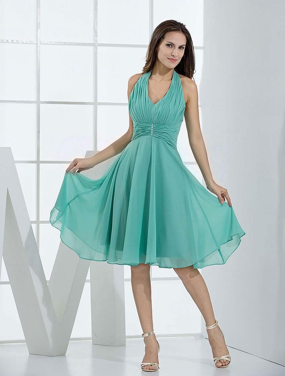 Aliexpress.com : Buy Vintage Halter V Neck Pleated Wrapped Silk ...