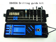 08450A kit guía de perforación, herramientas de Carpintería, 3 en 1 Drilling localizador,