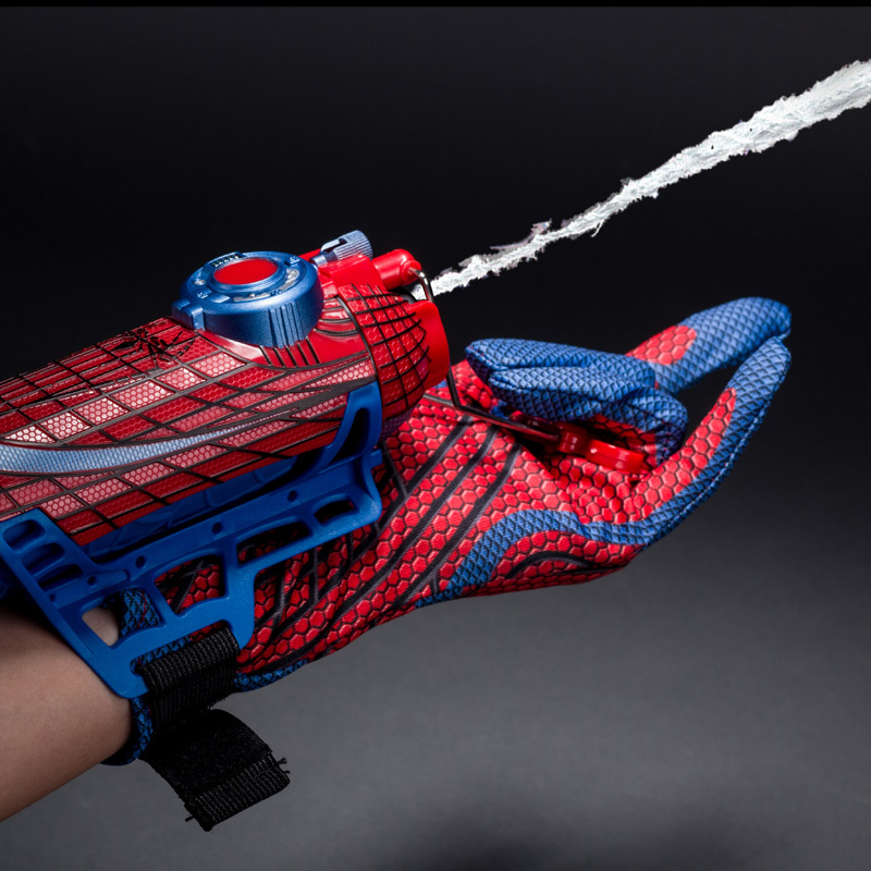 Be Like Spiderman Cosplay Mega Blaster With Gloves Launchers PVC Action Figure Collection Model Toy Drop
