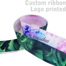 Free shipping 6mm -100mm width 2 yard custom ribbon cartoon printed satin ribbon for decoration стоимость