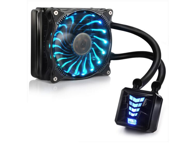Pccooler water cooling Liquid cooler 120 CPU Water Cooler (RGB/Integrated Water-cooled/12cm Fan/Intelligent Temperature Control) frostflow 120 cpu water cooling silent liquid cooler radiator intelligent temperature control qjy99