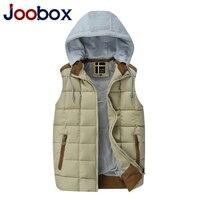JOOBOX Brand 2017 New Limited Mens Vest Casual Winter Coat Mail Warm Sleeveless Jacket Cotton Padded