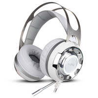 Wired Gaming Headset PC Game Music Headset LED Luminous Vibration Headphones with Microphone for Computer Laptop Phone Gamer