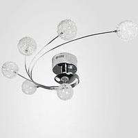 Современный светодиодный потолочный светильник, круглая алюминиевая стеклянная круглая лампочка, абажур для спальни, потолочный светильн