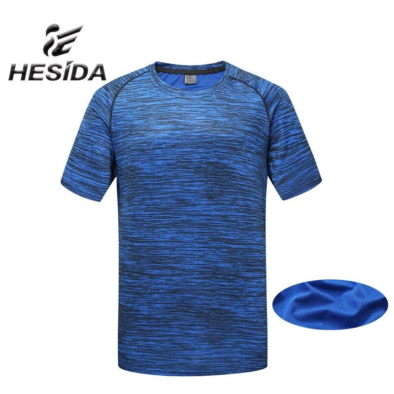 2018 Brand Design Rashgard Men's T-shirt Short Sleeve Stripe Running T Shirt Top Quick Dry Underwear Fitness Gym Men Sportswear blue stripe pattern shirt in sweet design