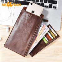 Leather Case For IPhone 8 X 7 Plus 5S Universal Wallet Cover For Samsung S8 Plus
