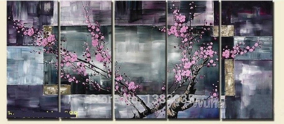 Cherry Blossom Canvas Wall Art popular cherry blossom abstract-buy cheap cherry blossom abstract