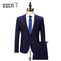 OSCN7 Purple 2 PCS Suit Men Plus Size Casual Terno Masculino 2017 New Fashion Costume Mariage Homme Office Formal Suits