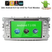 4 ядра 2din Android 7,1 автомобильный DVD для Ford Mondeo C max S max с Английский Wi Fi 3g gps Bluetooth радио сенсорный экран wifi 3g