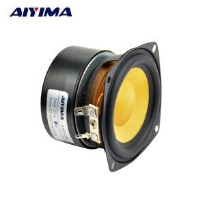 AIYIMA 2 шт. 3-дюймовые портативные аудио колонки 4 Ом 25 Вт стекловолокно, низкочастотная басовая Колонка DIY для стерео домашнего кинотеатра, звуковая система