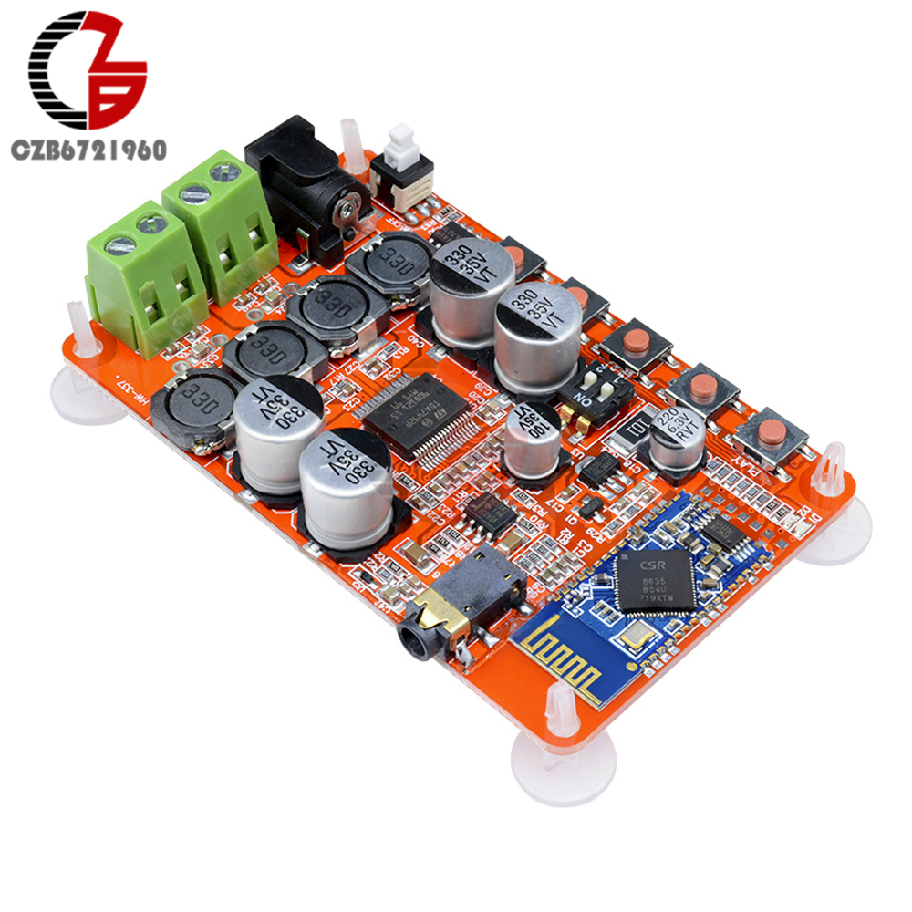 2x25W Bluetooth 4.0 Power Amplifier TDA7492P 2 CH Digital Stereo Power Amplifier Board Auto Pair AUX for Car Home Theater Stage2x25W Bluetooth 4.0 Power Amplifier TDA7492P 2 CH Digital Stereo Power Amplifier Board Auto Pair AUX for Car Home Theater Stage