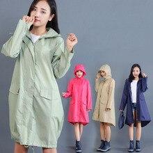 Portable Travel Camping Accessories Waterproof Women Raincoat Ladies Rain Coat 1 PC Breathable Long Rainwear Suit